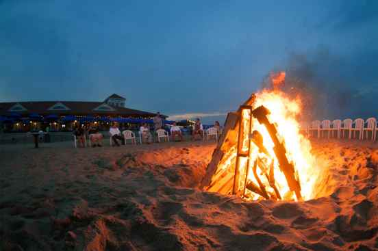 Beach Bonfires  by Joe Godar